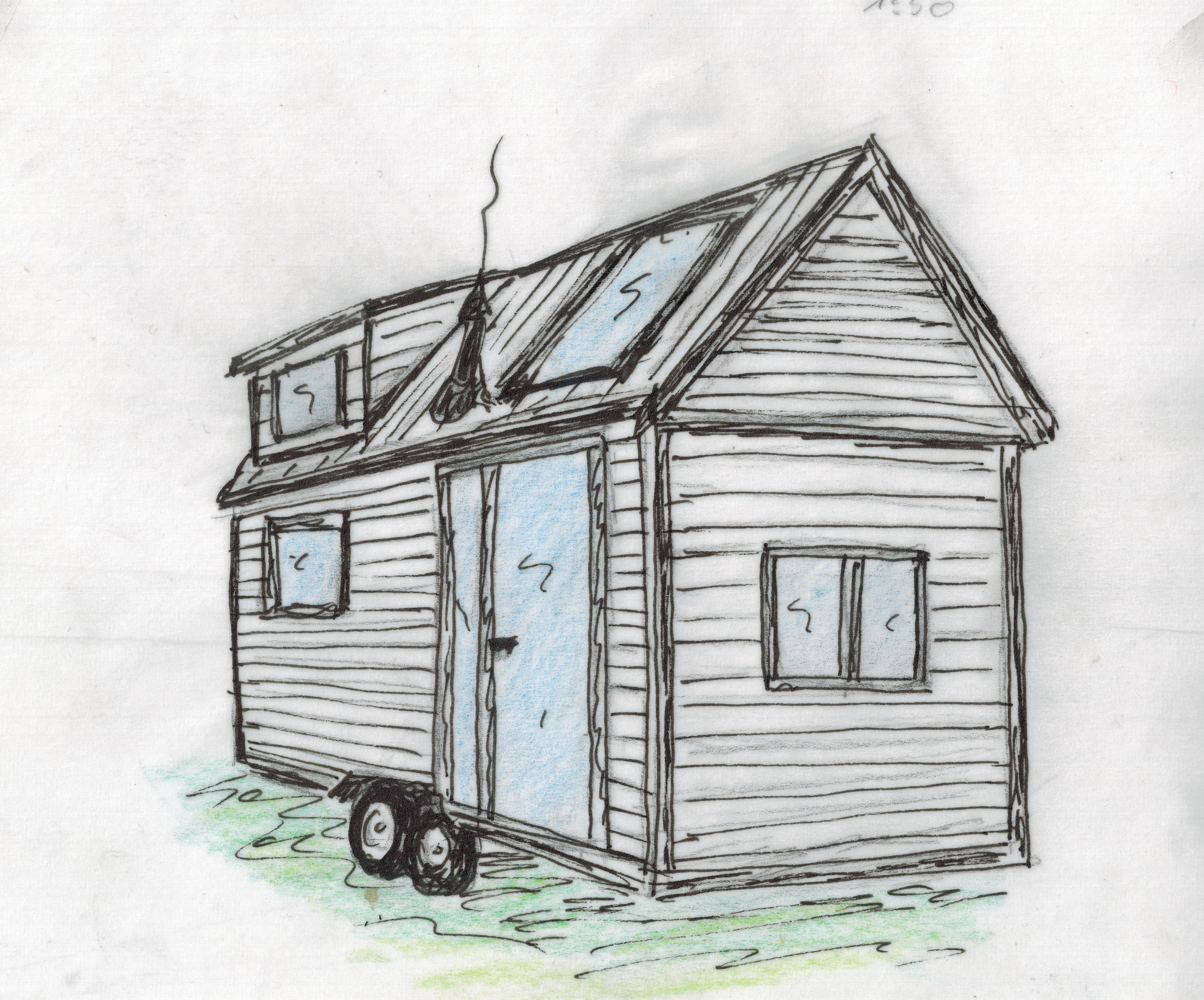 tinyhouse zeichnung